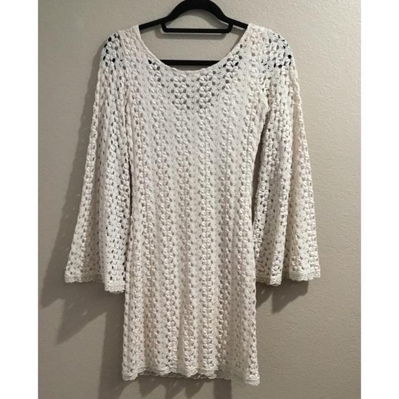 f93e0983f9 Free People Bell Sleeve Crochet Dress